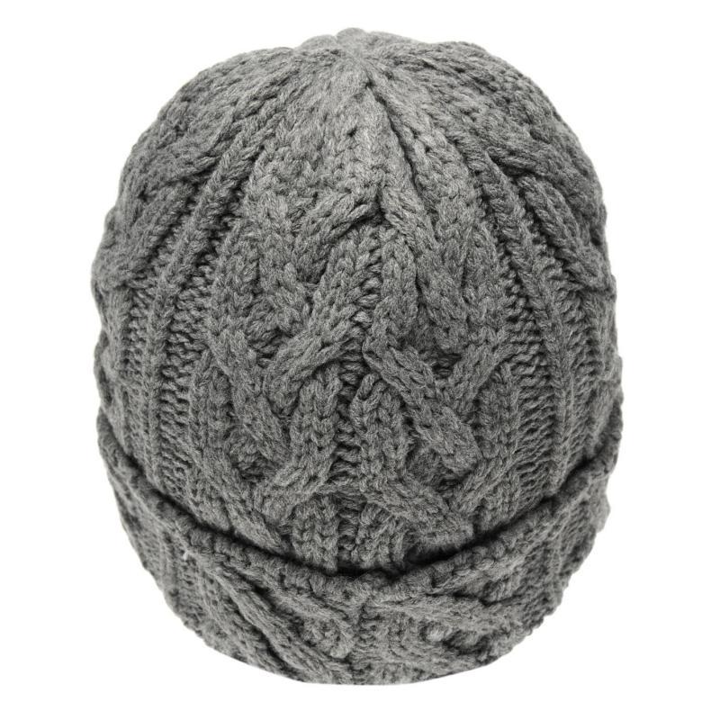 Pierre Cardin Knit Beanie Hat Charcoal Marl