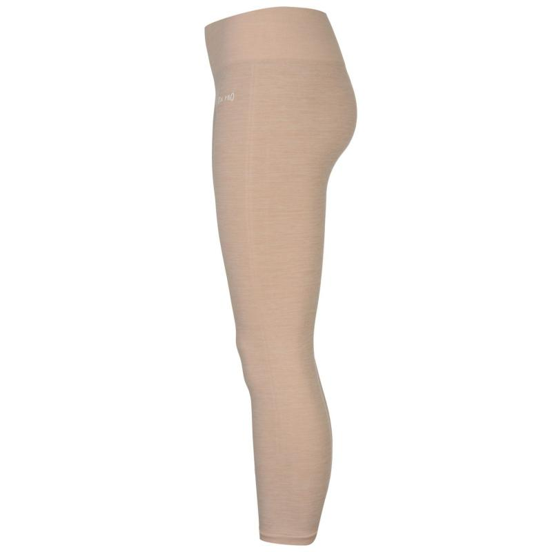 USA Pro Seamless Capri Leggings Ladies Black