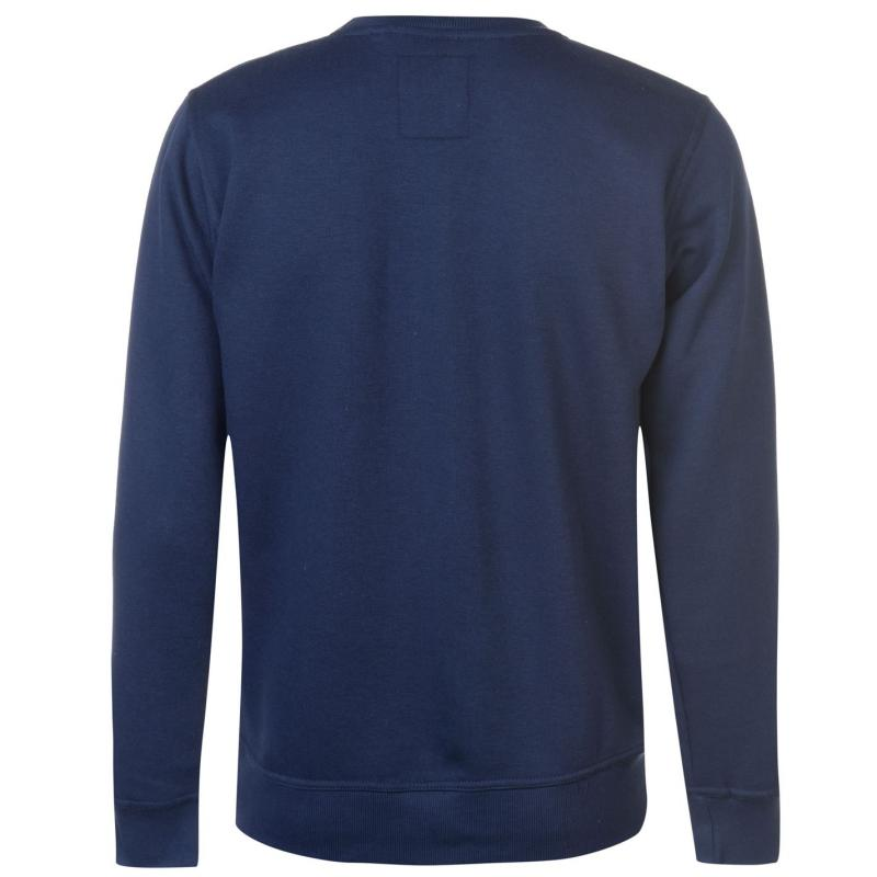 Lee Cooper Crew Logo Sweater Mens Charcoal M