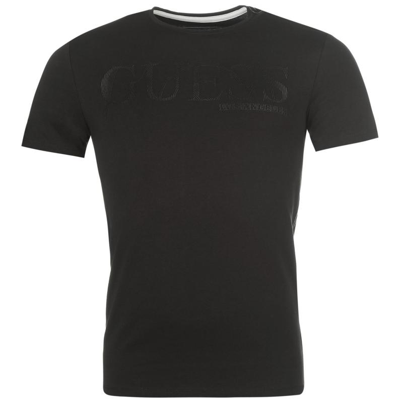 Tričko Guess Graphic 1 T Shirt Black, Velikost: M