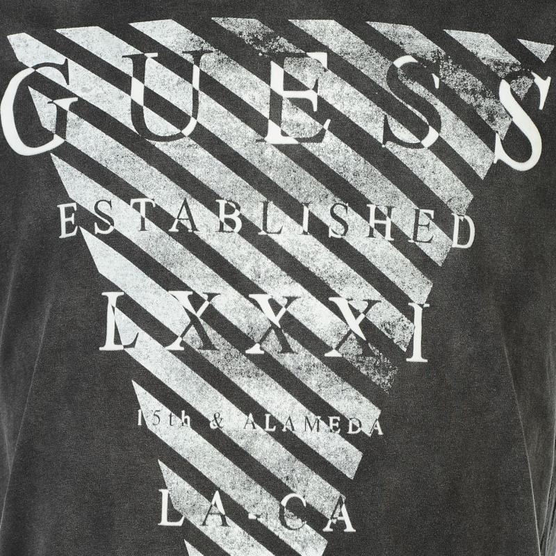 Tričko Guess Graphic 4 T Shirt Black, Velikost: M