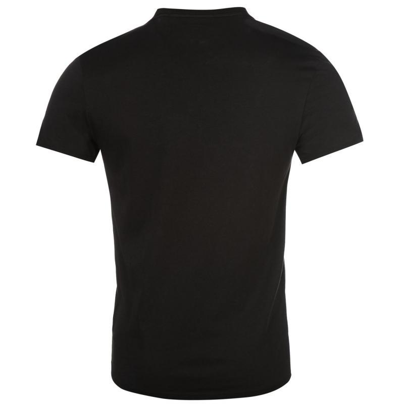 Tričko Guess Triangle T Shirt Black, Velikost: M