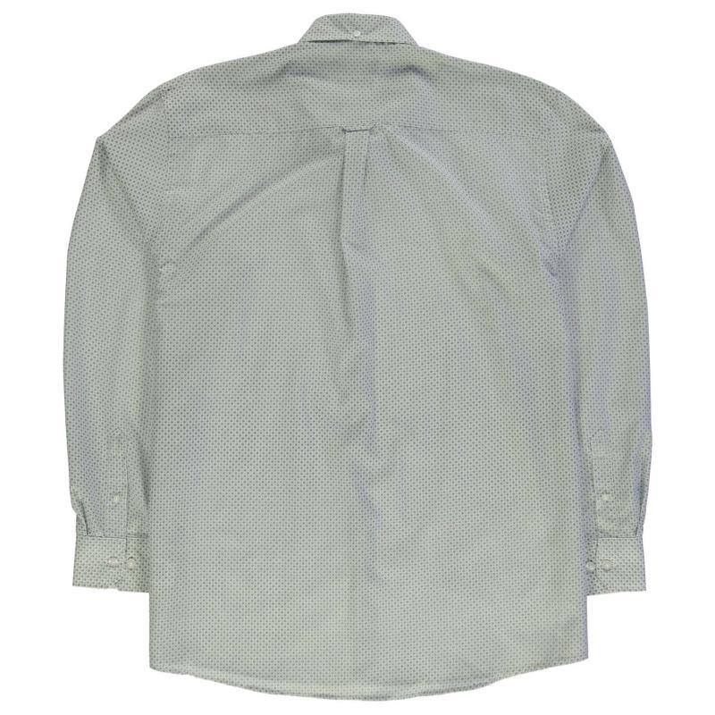 Košile Pierre Cardin XL Long Sleeve Pattern Shirt Mens Navy Geo