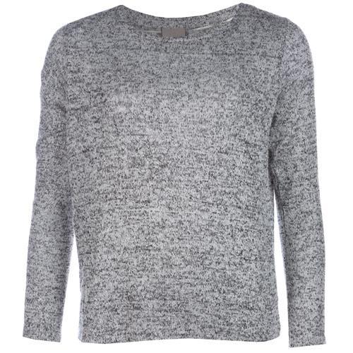 Svetr Vero Moda Womens Mellow Open Back Knit Top Black-White