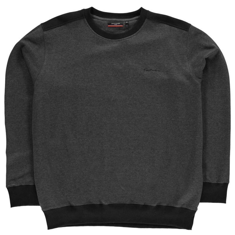 Pierre Cardin XL Crew Sweater Mens Charcoal Marl