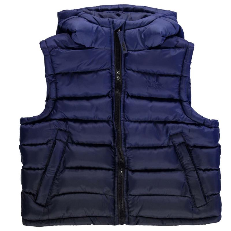 Bunda Lee Cooper Gradient Gilet Junior Boys Teal/Black