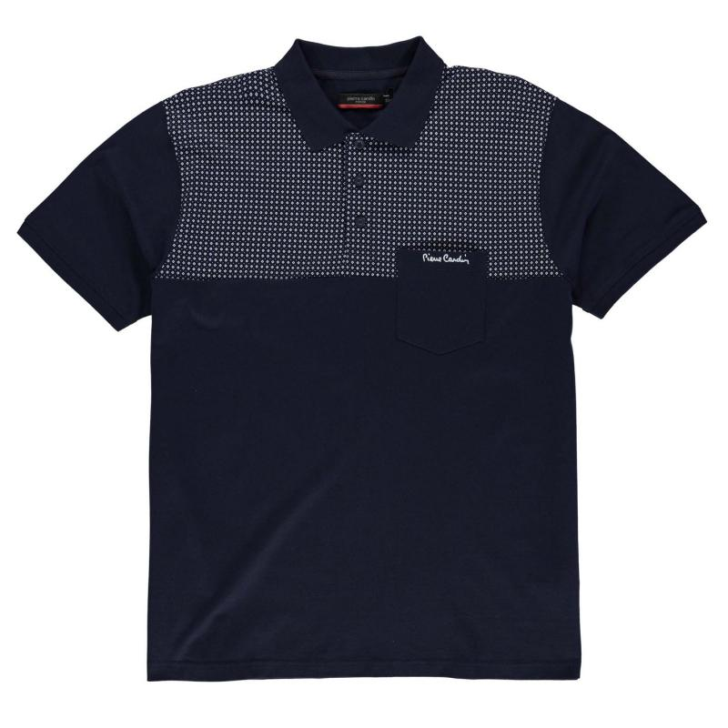 Pierre Cardin XL Panel Polo Shirt Mens Navy