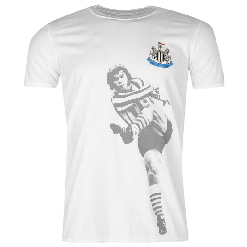 Tričko Team Newcastle United Retro Player T Shirt Mens Beardsley