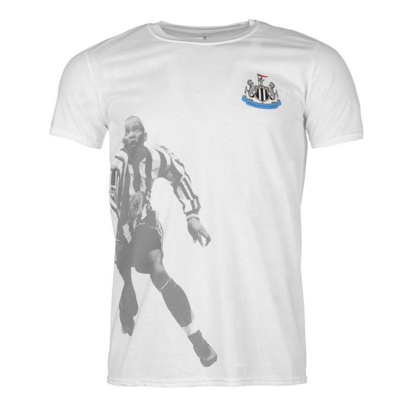 Tričko Team Newcastle United Retro Player T Shirt Mens Milburn