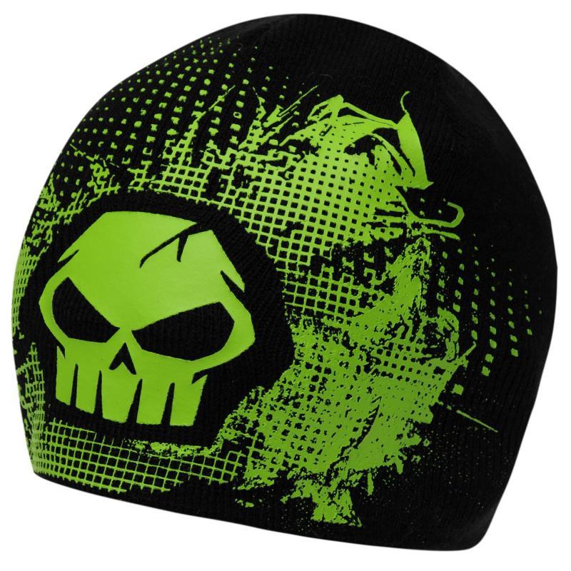 No Fear Beanie Hat Junior Boys Black/Green