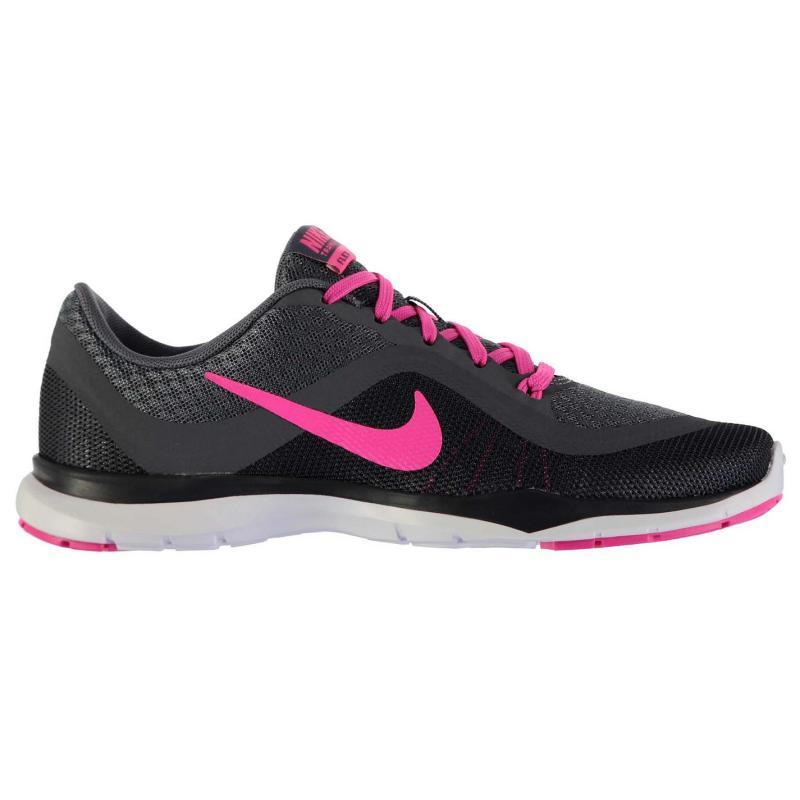Boty Nike Flex Trainer 6 Trainers Ladies Grey/Pink, Velikost: UK6 (euro 39)
