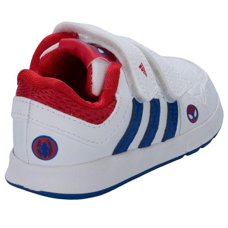 Boty Adidas Infant Boys LK Spiderman Trainers White, Velikost: UK8,5 (euro 42,5)