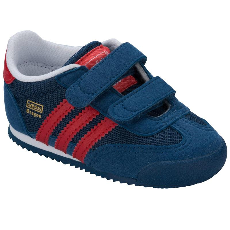 Boty Adidas Originals Infant Boys Dragon CF Trainers Navy