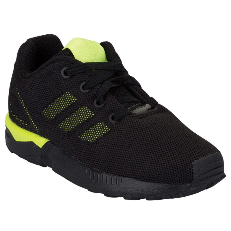 Boty Adidas Originals Infant Boys ZX Flux Trainers Black yellow
