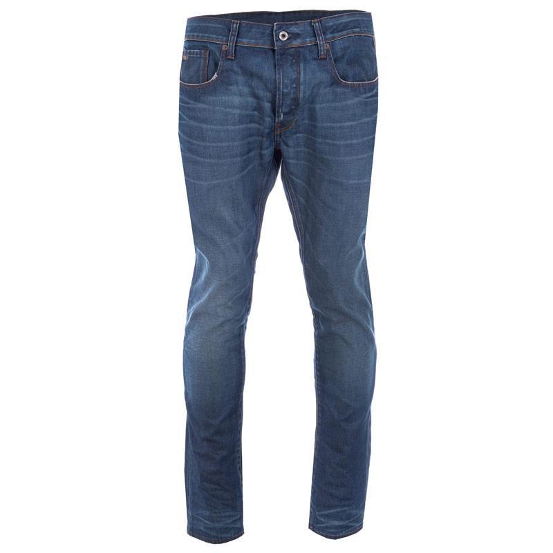 G Star Mens 3301 Slim Jeans Denim