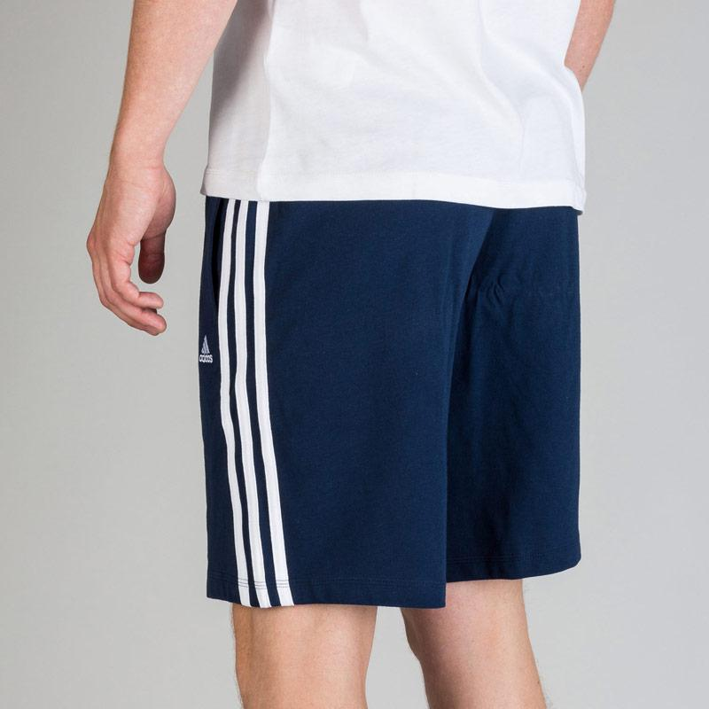 Kraťasy Adidas Mens Essentials 3S HSJ Shorts Navy-White, Velikost: XS
