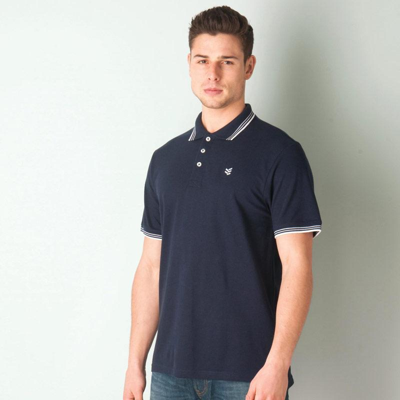Gio Goi Mens Paco Polo Shirt Navy-White
