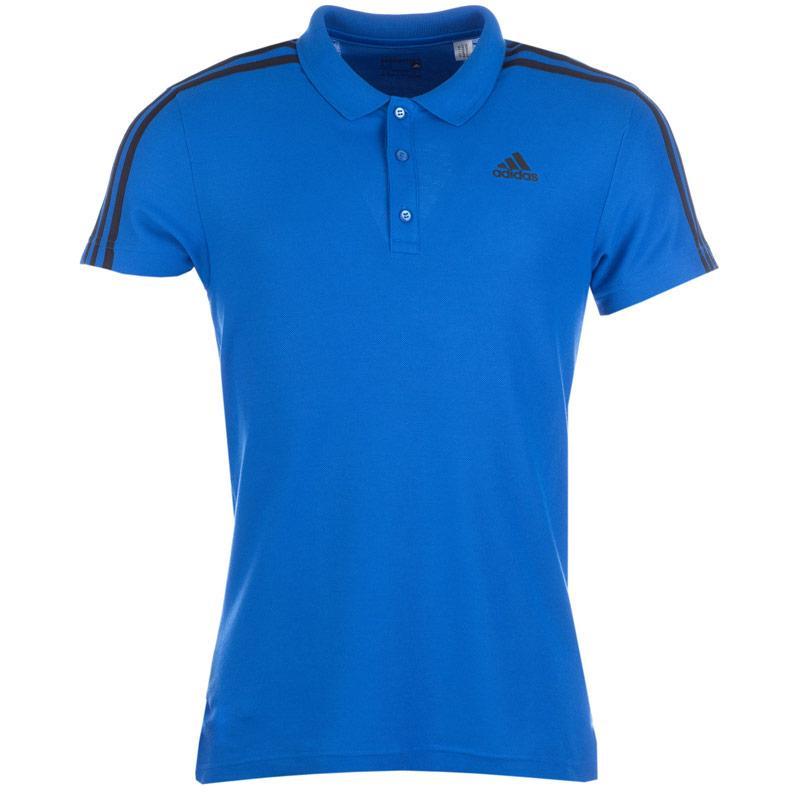 Adidas Mens Sport Essentials 3S Polo Shirt Blue