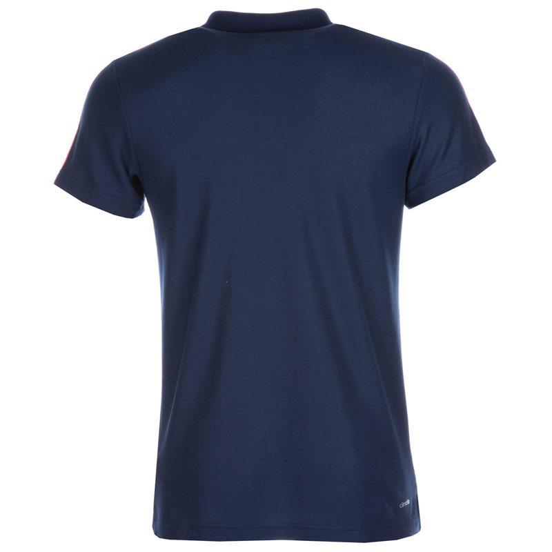 Adidas Mens Sport Essentials 3S Polo Shirt Charcoal Marl