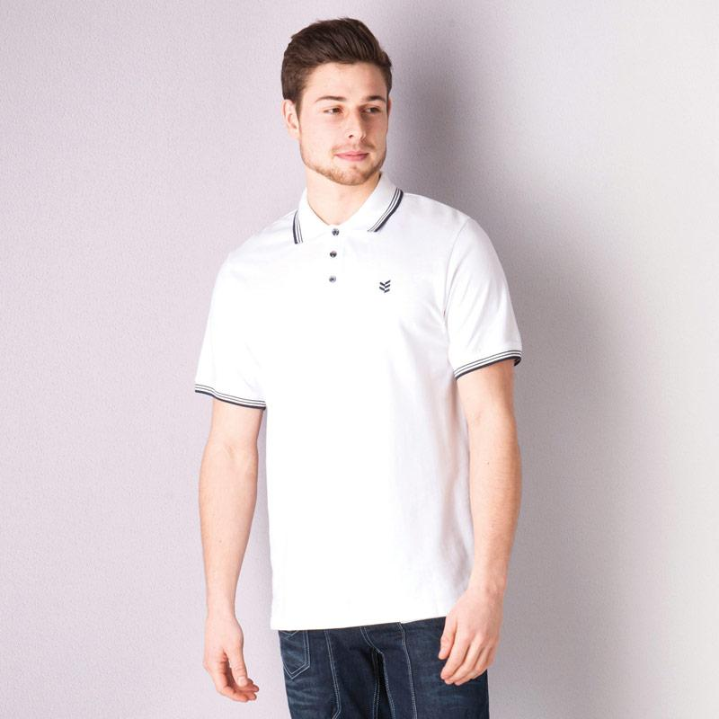 Gio Goi Mens Paco Polo Shirt White Navy