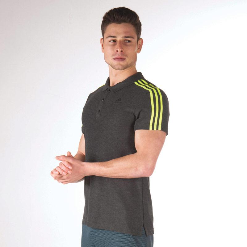 Adidas Mens Sport Essentials 3S Polo Shirt Navy Red, Velikost: XS