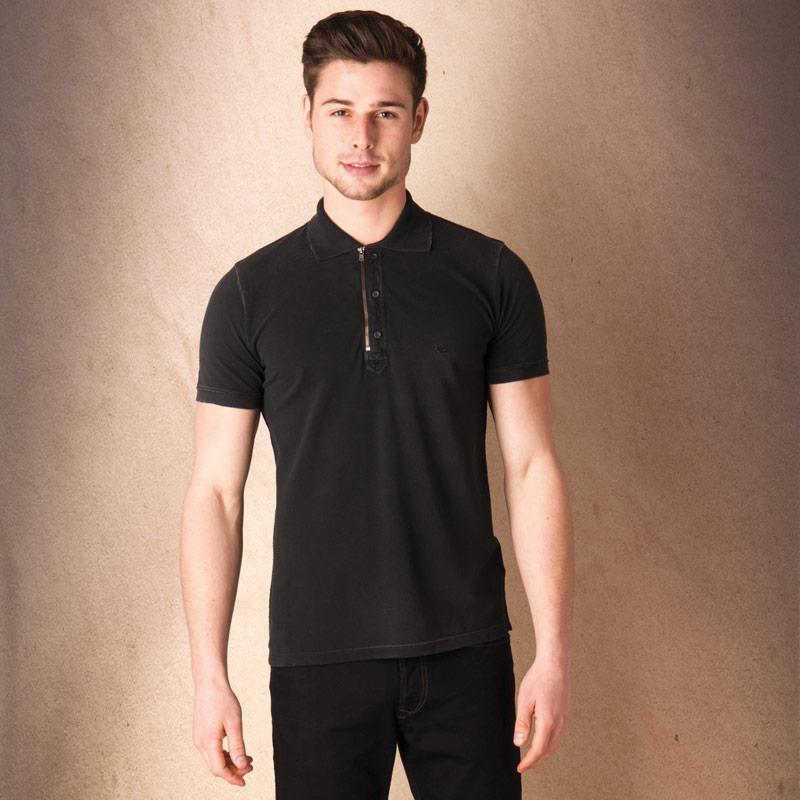 Diesel Mens T-Kalanit Polo Shirt Black