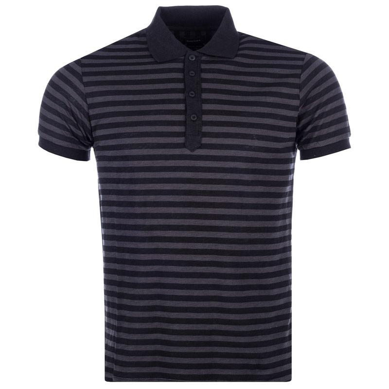 Diesel Mens T-Po Polo Shirt Charcoal