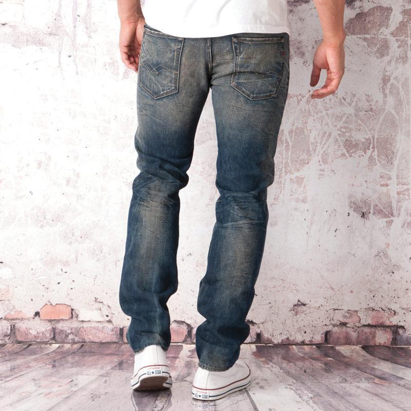 Replay Mens Lenrick Regular Slim Jeans Denim