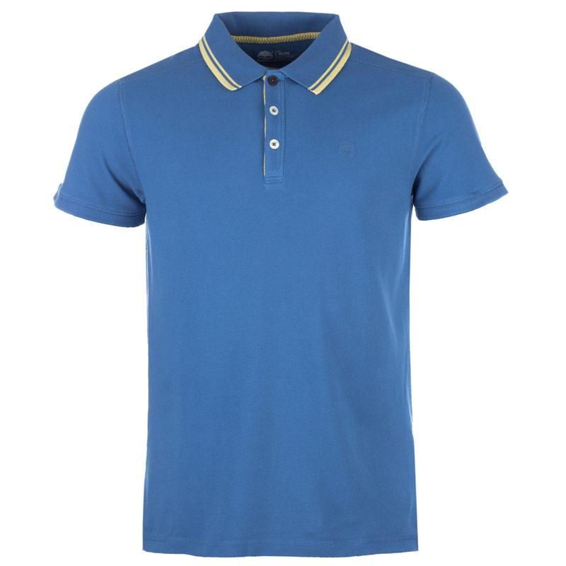 Timberland Mens Millers River Tipped Polo Shirt Blue