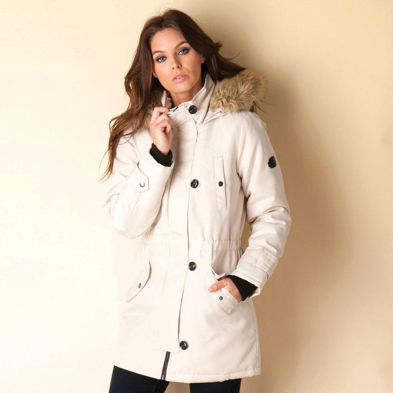Bunda Vero Moda Womens Expedition Parka Jacket Natural
