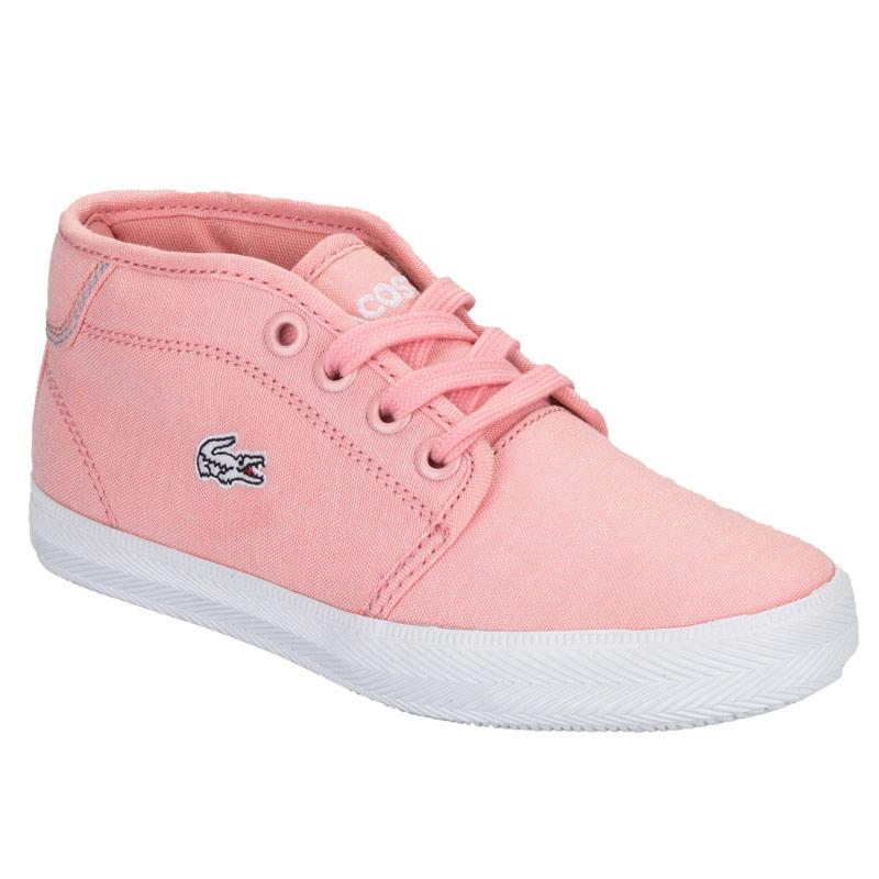 Lacoste Children Girls Ampthill Trainers Pink