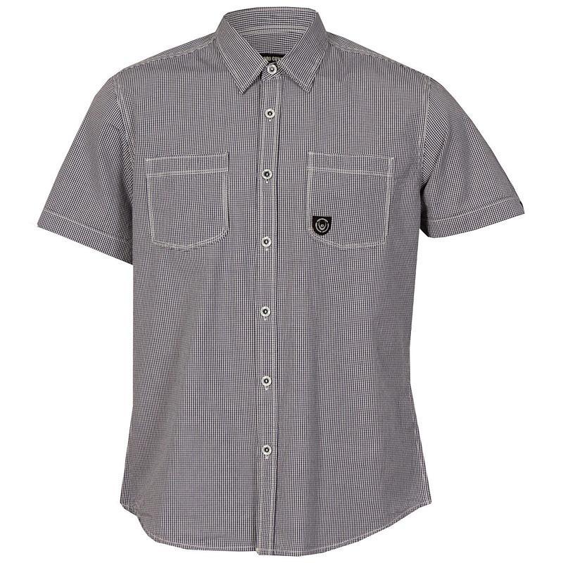 Košile Duck And Cover Mens Hansel Short Sleeve Shirt Navy