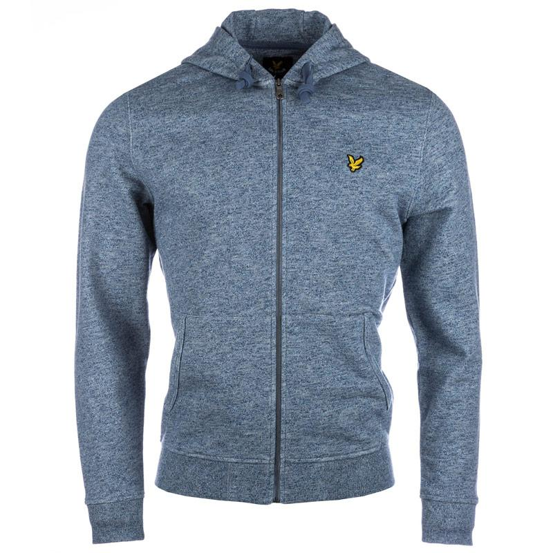 Mikina Lyle And Scott Mens Marl Zip Hoody Navy