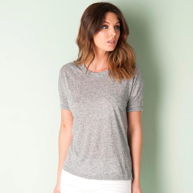 Vero Moda Womens Gillian T-Shirt Charcoal Marl
