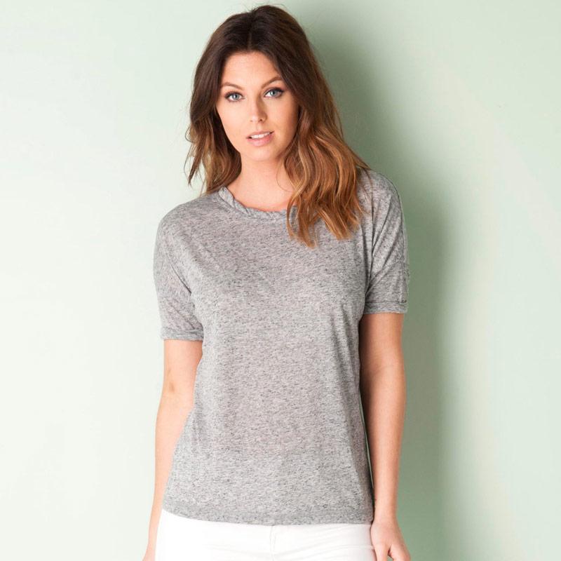Vero Moda Womens Gillian T-Shirt Grey Marl