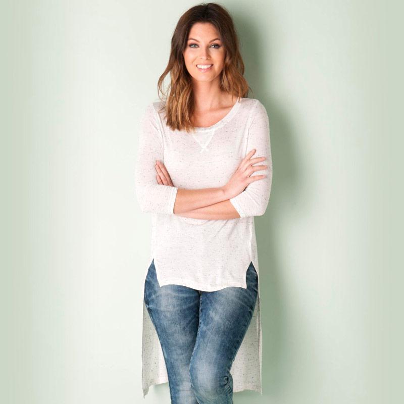 Vero Moda Womens Gina 3 Quarter Top White