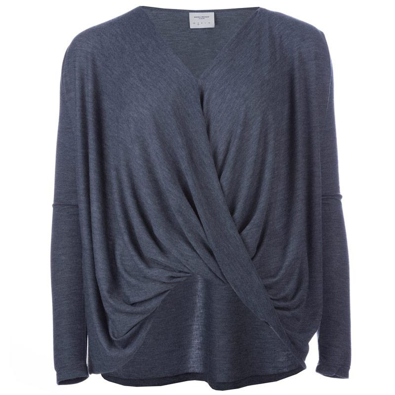 Vero Moda Womens Honie Wrap Top Navy Marl