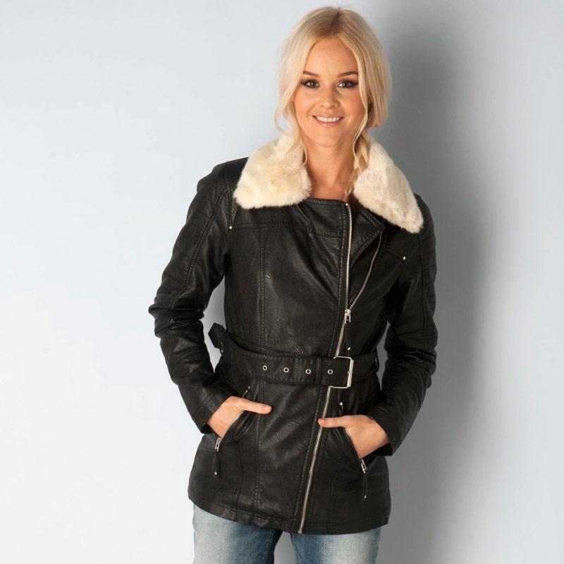 Bunda Vero Moda Womens Artist Pu Jacket Black