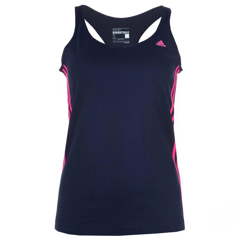 Adidas Womens Essential Tank Vest Top Navy