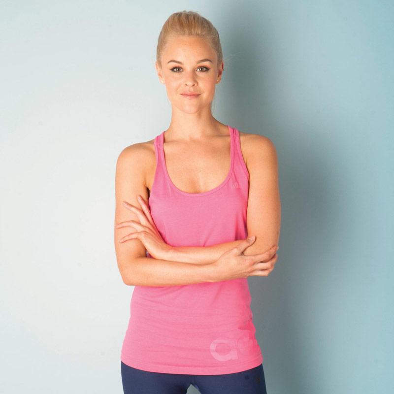 Adidas Womens Essentials Linear Tank Pink