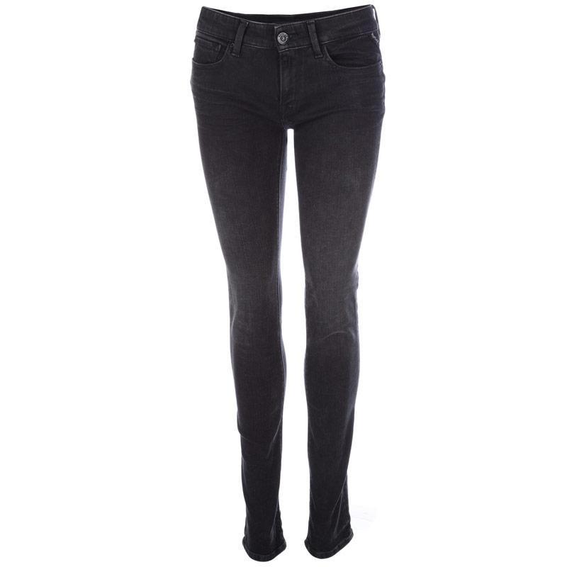 Replay Womens Luz Skinny Jeans Black