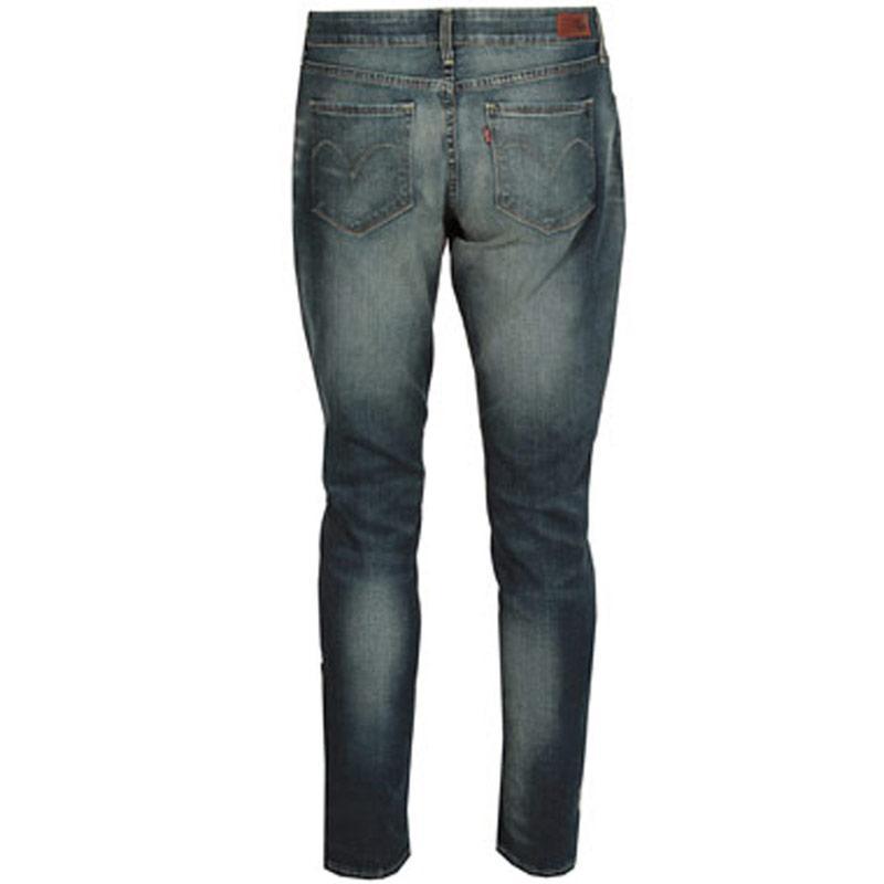 Levis Womens MD BC Skinny Unique Blue Jeans Denim