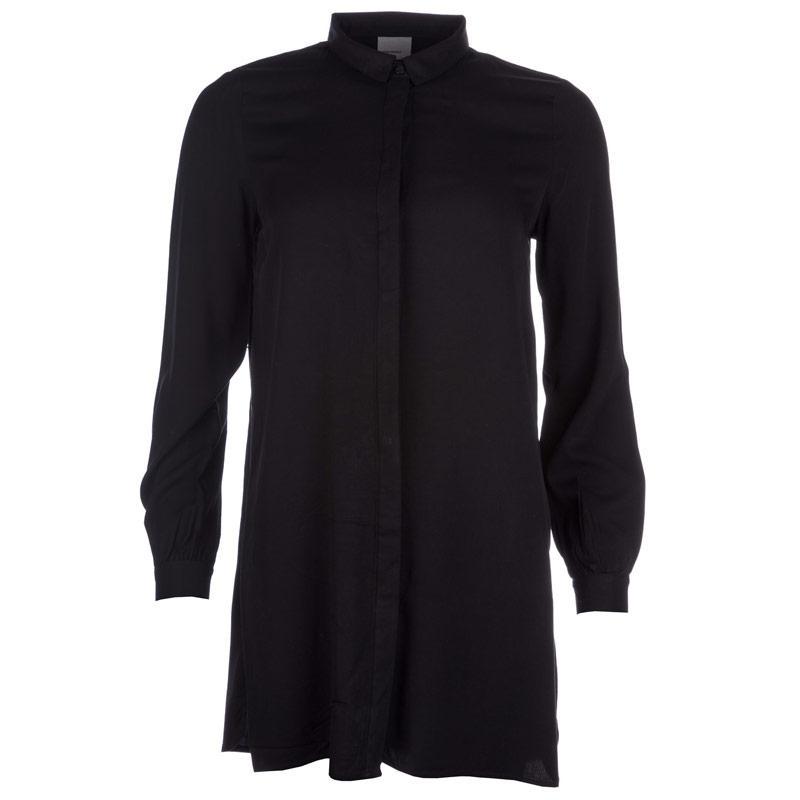Vero Moda Womens Newmaker Long Shirt Black