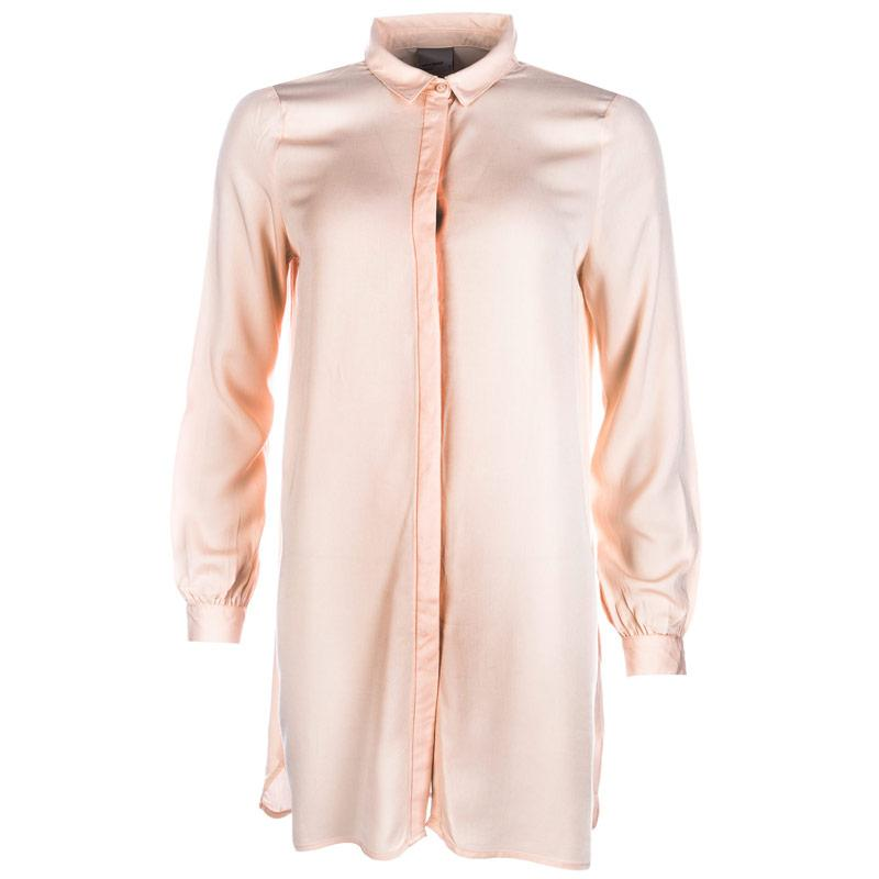 Vero Moda Womens Newmaker Long Shirt Peach