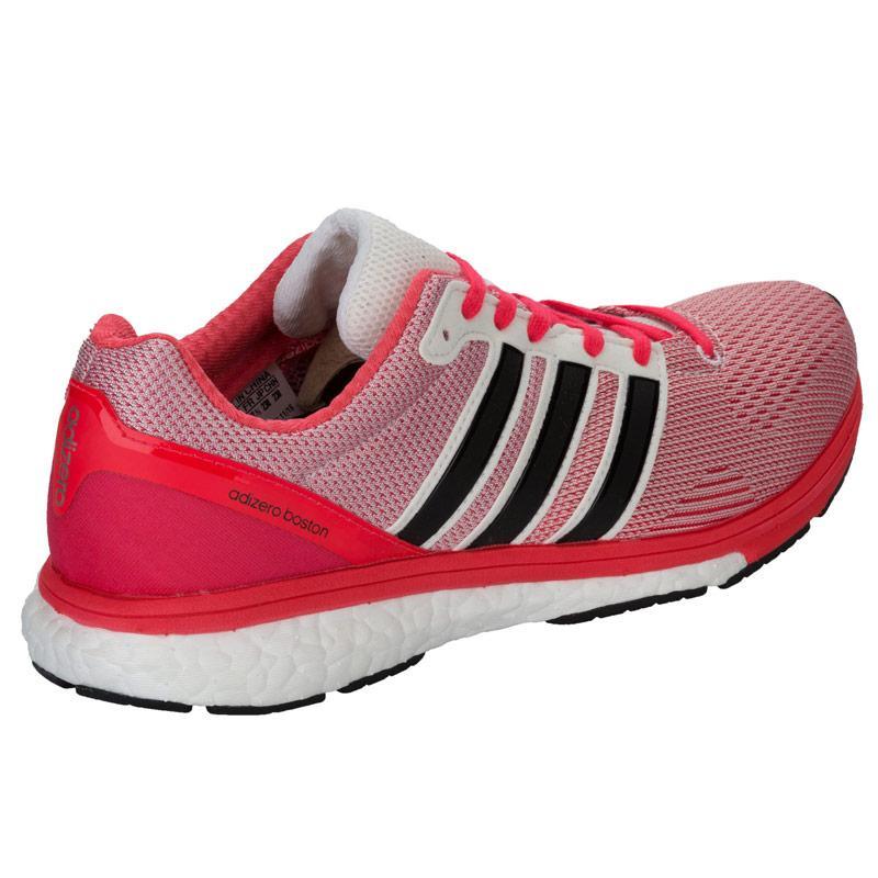 Boty Adidas Womens Adizero Boston Boost 5 Running Shoes White red, Velikost: UK6 (euro 39)