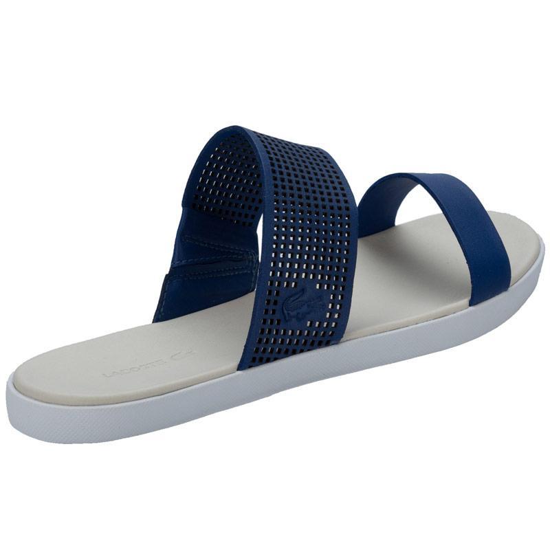 Lacoste Womens Natoy Slides Flip Flops Blue