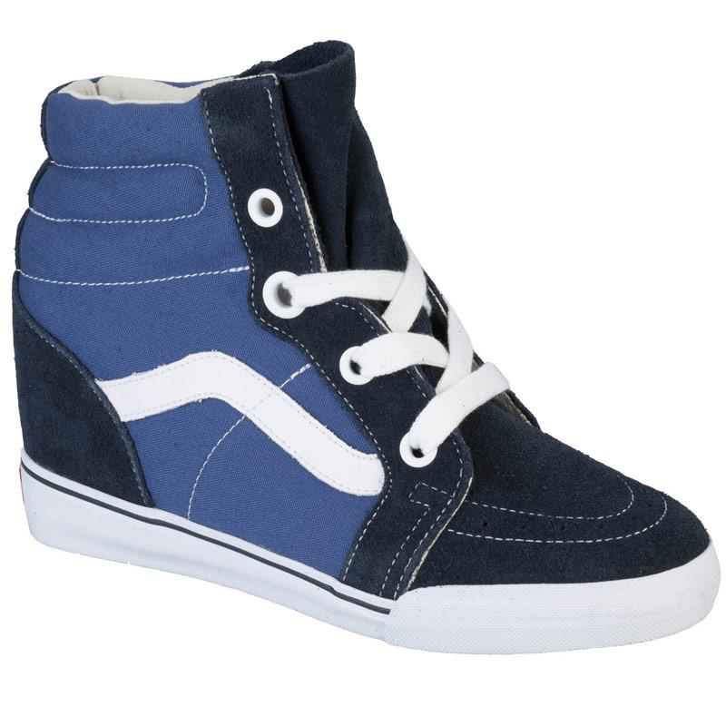 Boty Vans Womens Sk8 Hi Wedge Trainers Blue