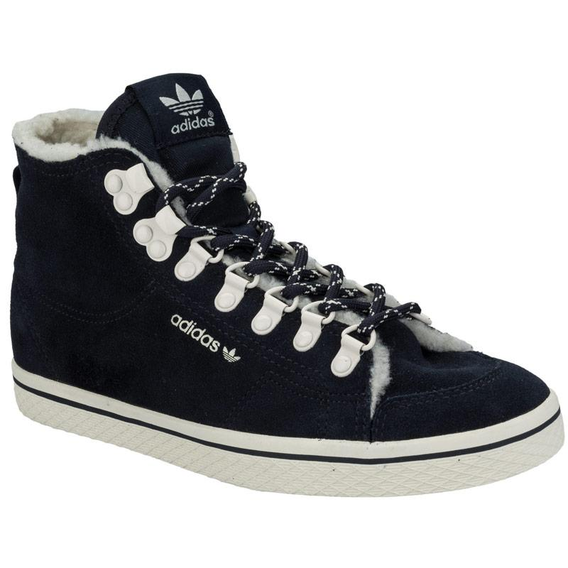 Boty Adidas Originals Womens Honey Hook Mid Top Trainers Navy