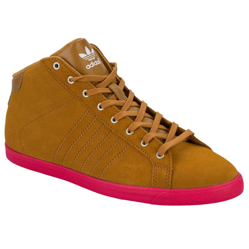 Boty Adidas Originals Womens Court Slim Mid Trainers Tan
