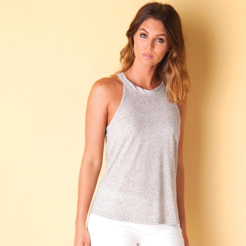 Vero Moda Womens Charlotte Tank Top Grey Marl